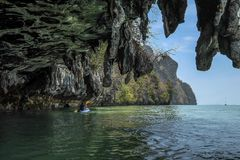 Koh Hong Karbi thailand. Shoot on the cayak Stock Photo