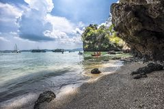 Koh Hong Krabi Thailand. Shoot on island stock image