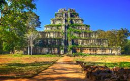 Koh Ker Ancient Temple Complex. Cambodia. Stock Images