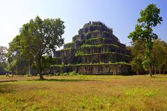 Koh Ker ancient temple complex. Cambodia. Royalty Free Stock Images