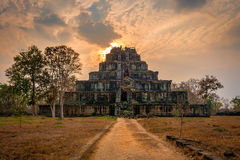 Koh Ker. Ancient temple ruins of Koh Ker, Cambodia royalty free stock photography