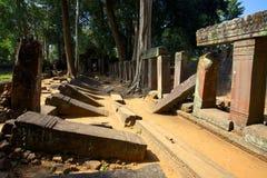 Koh Ker. Cambodja. Arkivfoton