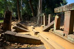 Koh Ker. Kambodscha. Stockfotos