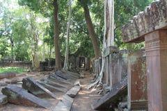 Koh Ker Temple cambodia Preahvihear landskap fotografering för bildbyråer