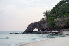 Koh khai. Symbol of  satun , thailand   in the morning Royalty Free Stock Photo