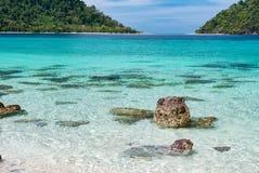Koh Khai on the way to Lipe Island, Satun. Thailand Royalty Free Stock Image