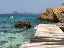 Koh Kham-Sattahip,Thailand. Beautyful island at Sattahip Chonburi Thailand stock photo