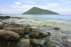 Koh Kon island seeing from Koh Rong Samlon island, Gulf of Thail Royalty Free Stock Photo