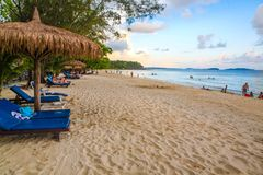 KOH KONG άσπρη παραλία koh kong στην ΕΠΑΡΧΊΑ στην Καμπότζη στοκ φωτογραφία με δικαίωμα ελεύθερης χρήσης
