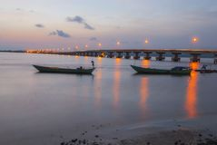 Koh Kong brige located in Koh Kong province Kingdom of Cambodia the brige to thailand boarder Stock Photo
