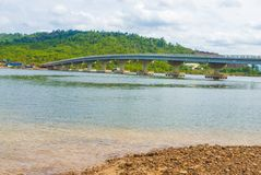 Koh Kong brige located in Koh Kong province Kingdom of Cambodia the brige to thailand boarder Royalty Free Stock Photos