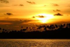 KOH Kood, Tailandia di tramonto Fotografie Stock