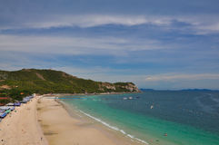 Koh Lan island. Tropical beach in Pattaya city, Chonburi Thailand Royalty Free Stock Photo