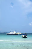 Koh Lan Pattaya. Many boats at Hard Tien Stock Images