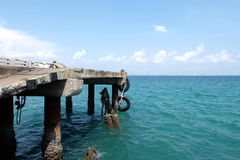 Koh Lan Pier Stock Afbeeldingen