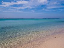 Koh Lan, Thailand. View of the amazing Samae Beach in Koh Lan island, the popular tropical paradise, right in front of Pattaya Royalty Free Stock Photo