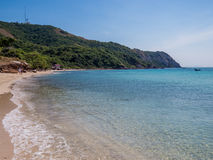 Koh Lan, Thailand. View of the amazing Samae Beach in Koh Lan island, the popular tropical paradise, right in front of Pattaya Royalty Free Stock Images