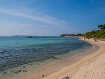 Koh Lan, Thailand. View of the amazing Samae Beach in Koh Lan island, the popular tropical paradise, right in front of Pattaya Stock Image