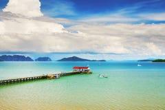 Koh Lanta Pier Fotografia Stock Libera da Diritti