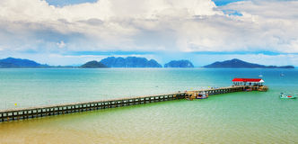 Koh Lanta Pier Royalty Free Stock Photos