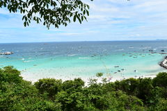 Koh Larn island tropical beach,the most famous island  of pattaya city Royalty Free Stock Photos