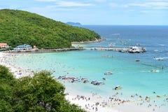 Koh Larn island tropical beach,the most famous island  of pattaya city Stock Photography