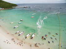Koh Larn island tropical beach,the most famous island  of pattaya city Royalty Free Stock Photo