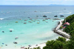 Koh Larn island tropical beach,the most famous island  of pattaya city Stock Photo