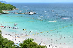 Koh Larn island tropical beach,the most famous island  of pattaya city Royalty Free Stock Images