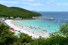 Koh Larn island tropical beach,the most famous island  of pattaya city Royalty Free Stock Photography
