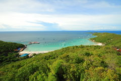 Koh Larn island tropical beach in Pattaya city Royalty Free Stock Image