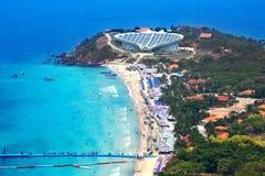 Koh Larn wyspy tropikalna plaża w Pattaya mieście Obraz Royalty Free