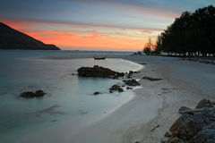 Koh Lipe beach at twilight in Satun Royalty Free Stock Photography
