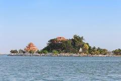 Koh Loy Landmark av Sriracha den populära turist- destinationen royaltyfri foto
