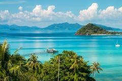 Koh Mak Island Viewpoint på Trat i Thailand sommarsäsong Arkivbild