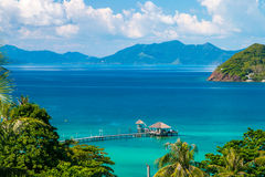 Koh Mak Island Viewpoint at Trat in Thailand Summer Season. Koh Mak Island Viewpoint at Trat in Thailand Summer Royalty Free Stock Photography