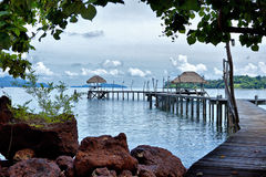 Koh Mak pier Royalty Free Stock Images