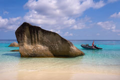 Koh Miang. A beautiful sunny beach on the Koh Miang island Royalty Free Stock Photo