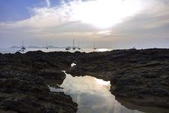 Koh Mook Stones Coast Line Imagen de archivo