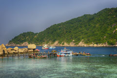 Koh nang yuan νησί, Σουράτ, Ταϊλάνδη Στοκ φωτογραφίες με δικαίωμα ελεύθερης χρήσης