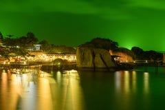 Koh Nang Yuan, Ταϊλάνδη παραλιών τη νύχτα Στοκ Εικόνες