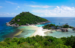 Koh Nang yuan Island,Surat,Thailand. One of the most famous diving point in thailand stock photos