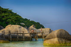 Koh nang yuan Island,Surat,Thailand Royalty Free Stock Photos
