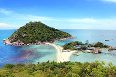 Koh Nang yuan Island,Surat,Thailand. One of the most famous diving point in thailand royalty free stock photography