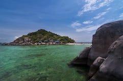 Koh Nang Yuan Island Surat Thani som är sydligt av Thailand Royaltyfria Bilder