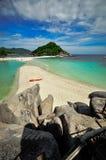 Koh Nang Yuan, Kho Tao Island, Tailândia Imagens de Stock