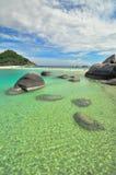 Koh Nang Yuan limestones Island, Thailand Stock Images