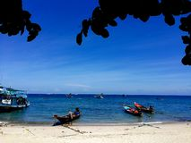 Koh Nang Yuan: Paradise original em Tail?ndia imagem de stock