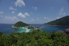 Koh Nang Yuan, Thailand. Beautiful island in Thailand gulf Royalty Free Stock Images