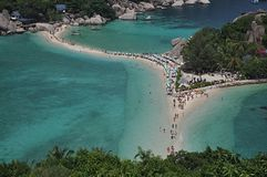 Koh Nang Yuan, Thailand. Beautiful island in Thailand gulf Stock Photo